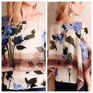 ANTHRO✨Tiny Abjure Layered Floral Top sz L